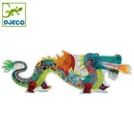 正規品 DJECO(ジェコ) [ジャイアントパズル レオン ザ ドラゴン] 58ピース ジグソーパズル 幼児 パズル 知育玩具