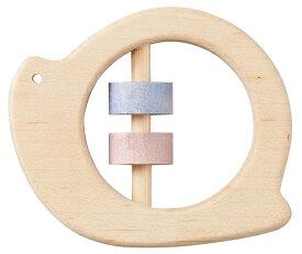 正規品 Ed.Inter(エドインター) NIHONシリーズ [どうぶつラトル かたつむり] がらがら ラトル おもちゃ 木製玩具 木のおもちゃ