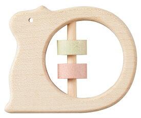 正規品 Ed.Inter(エドインター) NIHONシリーズ [どうぶつラトル りす] がらがら ラトル 木製玩具 木のおもちゃ