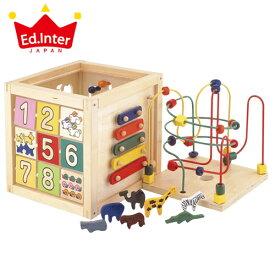 正規品 エドインター [森のあそび箱] 木のおもちゃ 木製玩具 楽器 おもちゃ ビーズコースター 型はめパズル