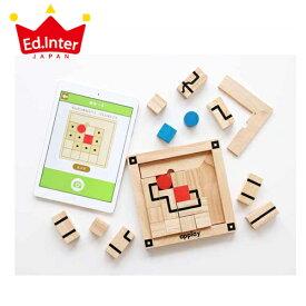正規品 エド・インター [ルートファインダー] Route Finder 木製脳トレパズル×アプリ エドインター 知育玩具 木製玩具 パズル