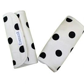 正規品 [メール便対応] ESMERALDA(エスメラルダ) オーガニックコットン・サッキングパッド ポルカドット(同柄2枚セット) よだれパッド よだれカバー エルゴ対応 ベルトカバー サッキングパッド