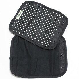 正規品 [メール便対応] ESMERALDA(エスメラルダ) オーガニックコットン・サッキングパッド ブラックドット(同柄2枚セット) よだれパッド よだれカバー エルゴ対応 ベルトカバー サッキングパッド