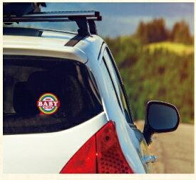 正規品 [メール便対応]カーステッカー exprenade(エクスプレナード) カーセーフティステッカー カーステッカー baby in car ステッカー baby in car 赤ちゃんが乗ってます kids in car