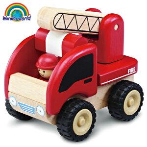正規品 木のおもちゃ wonderworld(ワンダーワールド) [ミニ・ファイアーエンジン] 木のおもちゃ 木製玩具 おもちゃ 車のおもちゃ
