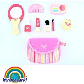 正規品 木のおもちゃ wonderworld(ワンダーワールド) [ピンキー・コスメセット] 木のおもちゃ 木製玩具 おもちゃ おままごと