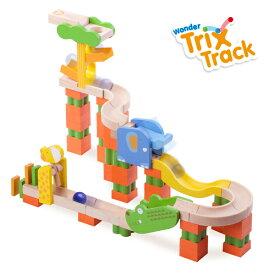 正規品 木のおもちゃ ボール転がし wonderworld(ワンダーワールド) TrixTrack [サファリトラック] 木のおもちゃ 木製玩具 おもちゃ パズル