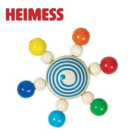 正規品 HEIMESS(ハイメス) [スピニングトップ ウィズ パール] 木のおもちゃ 木製玩具 ラトル 赤ちゃん コマ スターコマ