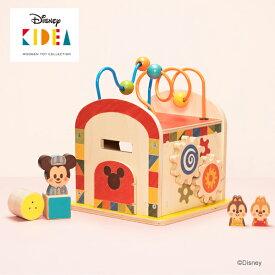 Disney KIDEA(キディア) BUSY BOX [ミッキー&フレンズ] 積み木 つみき 木のおもちゃ 木製玩具 出産祝い 1歳 誕生日プレゼント
