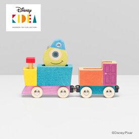 Disney KIDEA(キディア) TRAIN [マイク] 積み木 つみき 木のおもちゃ 木製玩具 出産祝い 1歳 誕生日プレゼント