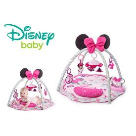 正規品 ディズニーベビー [ミニーマウス・ガーデンファン・アクティビティジム] Disney baby ジム プレイマット