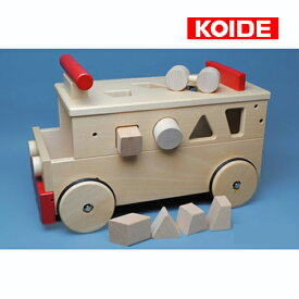 正規品 koide(コイデ) [乗用バス] 木のおもちゃ 木製玩具 乗用玩具 乗り物 型はめパズル 知育玩具 1歳