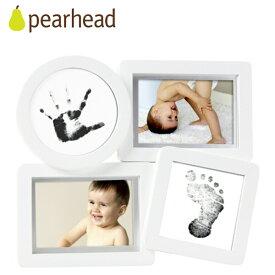 正規品 pearhead(ペアヘッド) [ベビープリント・コラージュフレーム ホワイト] 手形 足形 フォトフレーム ベビー 写真立て ベビー