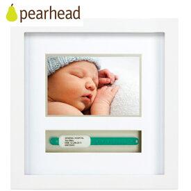 正規品 pearhead(ペアヘッド) [ネームバンド・フレーム ホワイト] フォトフレーム フォトフレーム ベビー 写真立て ベビー