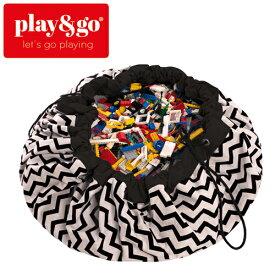正規品 play&go(プレイアンドゴー) [2in1ストレージバッグ&プレイマット ジグザグブラック] ベビーマット