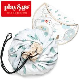正規品 play&go(プレイアンドゴー) [2in1ストレージバッグ&プレイマット トレイン] ベビーマット おもちゃ 収納