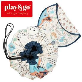 正規品 play&go(プレイアンドゴー) [2in1ストレージバッグ&プレイマット LAロードマップ] ベビーマット おもちゃ 収納
