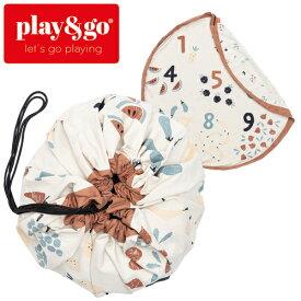 正規品 play&go(プレイアンドゴー) [2in1ストレージバッグ&プレイマット ベジ ナンバーズ] ベビーマット おもちゃ 収納