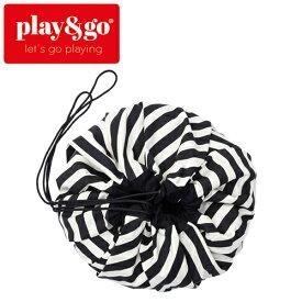 正規品 play&go(プレイアンドゴー) [2in1ストレージバッグ&プレイマット ストライプ ブラック] ベビーマット おもちゃ 収納