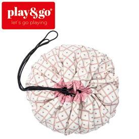 正規品 play&go(プレイアンドゴー) [2in1ストレージバッグ&プレイマット ジオ コーラル] ベビーマット おもちゃ 収納