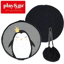 正規品 play&go(プレイアンドゴー) [2in1ストレージバッグ&プレイマット ソフト ペンギン] ベビーマット おもちゃ 収納