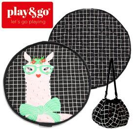 正規品 play&go(プレイアンドゴー) [2in1ストレージバッグ&プレイマット ソフト ラマ] ベビーマット おもちゃ 収納