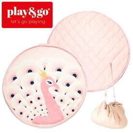 正規品 play&go(プレイアンドゴー) [2in1ストレージバッグ&プレイマット ソフト ピーコック] ベビーマット おもちゃ 収納