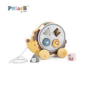 正規品 Polar B(ポーラービー) [ソーティングプルトイ はりねずみ] 知育玩具 2歳 型はめパズル