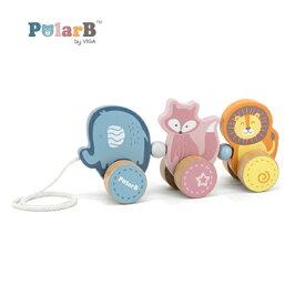 正規品 Polar B(ポーラービー) [くねくねトレイン] プルトイ 木のおもちゃ 木製玩具