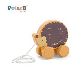 正規品 Polar B(ポーラービー) [プルトイ はりねずみ] 木のおもちゃ 木製玩具