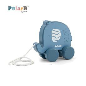 正規品 Polar B(ポーラービー) [プルトイ ぞう] 木のおもちゃ 木製玩具