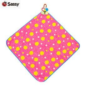 正規品 [メール便対応] Sassy(サッシー) [ふんわりループ付きタオル ピンク] ループ タオル 保育園 幼稚園