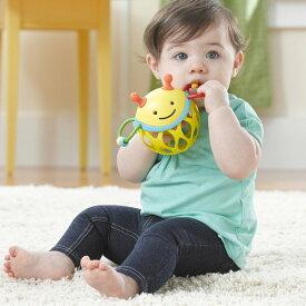 正規品 SKIP HOP(スキップホップ) [ロールアラウンド・ラトル ビー] オーボール ガラガラ おもちゃ ラトル 玩具