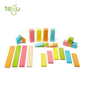 正規品 tegu(テグ) [マグネットブロック 24ピース ティント] 積み木 つみき