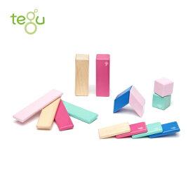 正規品 tegu(テグ) [マグネットブロック 14ピース ブロッサム] 積み木 つみき