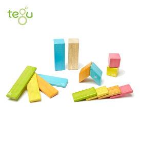 正規品 tegu(テグ) [マグネットブロック 14ピース ティント] 積み木 つみき