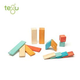 正規品 tegu(テグ) [マグネットブロック 14ピース サンセット] 積み木 つみき