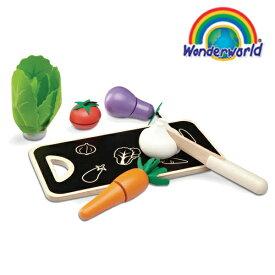 正規品 wonderworld(ワンダーワールド) [ファイブカラー・ベジタブル] おままごと 木のおもちゃ