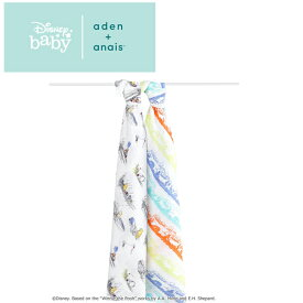 [日本正規品] エイデンアンドアネイ aden+anais ディズニーコレクション [winnie the pooh] 2枚セット [あす楽対応] おくるみ swaddle スワドル