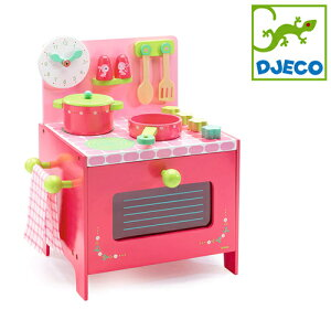 正規品 DJECO(ジェコ) [リリローズ クッカー] [あす楽対応] おままごと 木製 おもちゃ キッチンセット