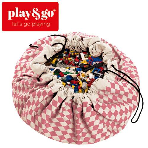 play&go(プレイアンドゴー) [ダイヤモンド ピンク] 2in1ストレージバッグ&プレイマット プリント [あす楽対応] /ベビーマット/プレイマット/