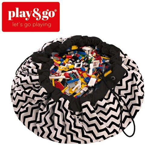 play&go(プレイアンドゴー) [ジグザグブラック] 2in1ストレージバッグ&プレイマット プリント [あす楽対応] /ベビーマット/プレイマット/