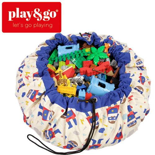 play&go(プレイアンドゴー) [スーパーヒーロー] 2in1ストレージバッグ&プレイマット デザイナーコラボ [あす楽対応] /ベビーマット/プレイマット/