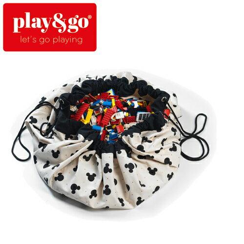 play&go(プレイアンドゴー) [ミッキーブラック] 2in1ストレージバッグ&プレイマット ディズニー [あす楽対応] /ベビーマット/プレイマット/