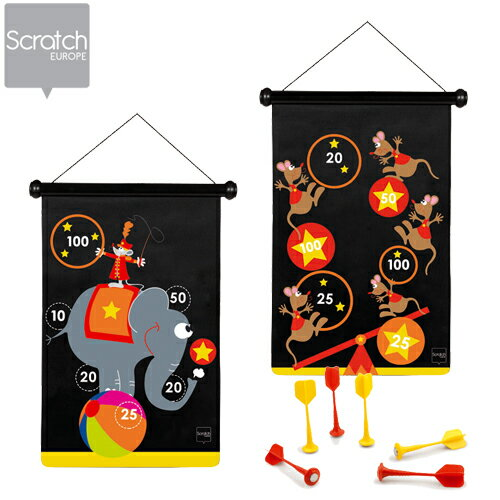 正規品 Scratch(スクラッチ) マグネティックダーツ [サーカス] [あす楽対応] ダーツ おもちゃ 子ども