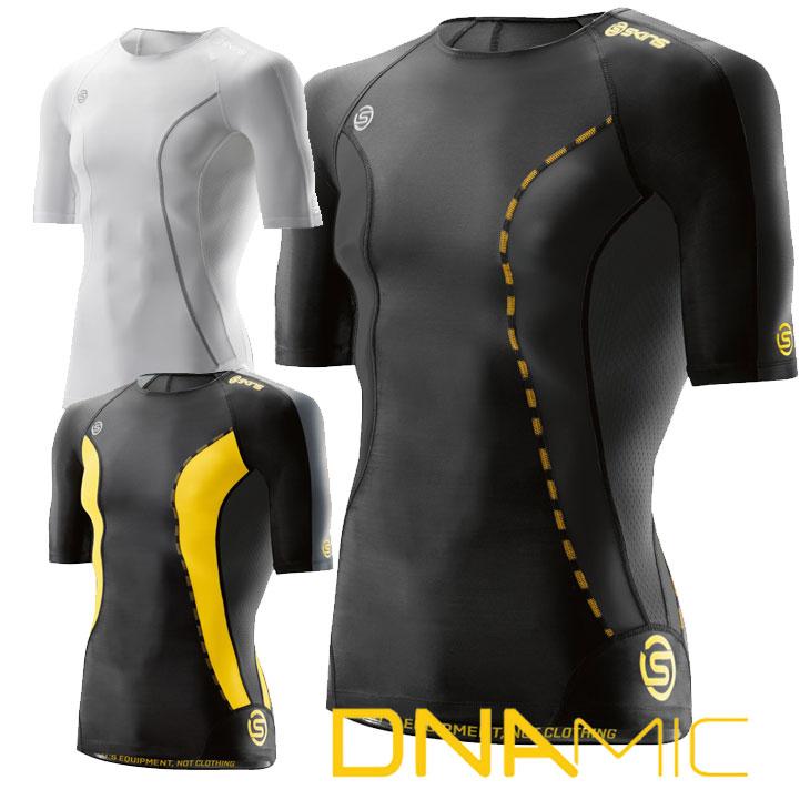 スキンズ メンズ ショートスリーブ トップ skins A200 DNAMIC CORE メンズ ショートスリーブ 半袖 【正規品】コンプレッション