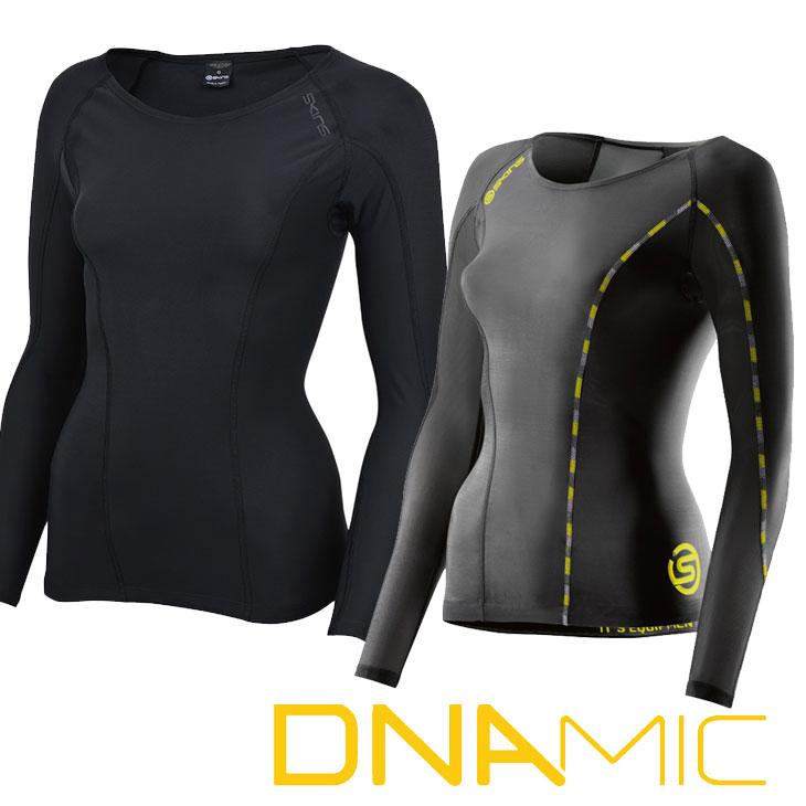 スキンズ レディース ロングスリーブ トップ skins DNAmic コンプレッション 【正規品】