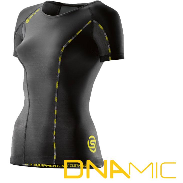 スキンズ レディース ショートスリーブ トップ skins DNAmic コンプレッション 【正規品】DA06049033