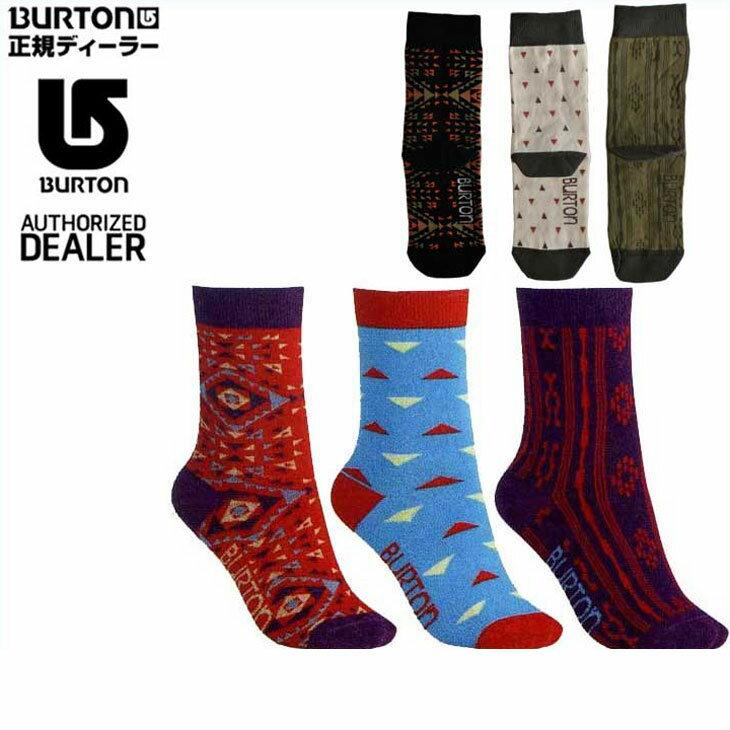 15-16 BURTON バートン WOMENS ソックス 靴下 【Women's Apres Sock 3 Pack 】レディース 「メール便不可」日本正規品 【返品種別SALE】