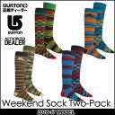 16-17 BURTON バートン MENS スノー ソックス 靴下 【Weekend Sock Two-Pack 】2足セット メンズ 「メール便不可」日本正...